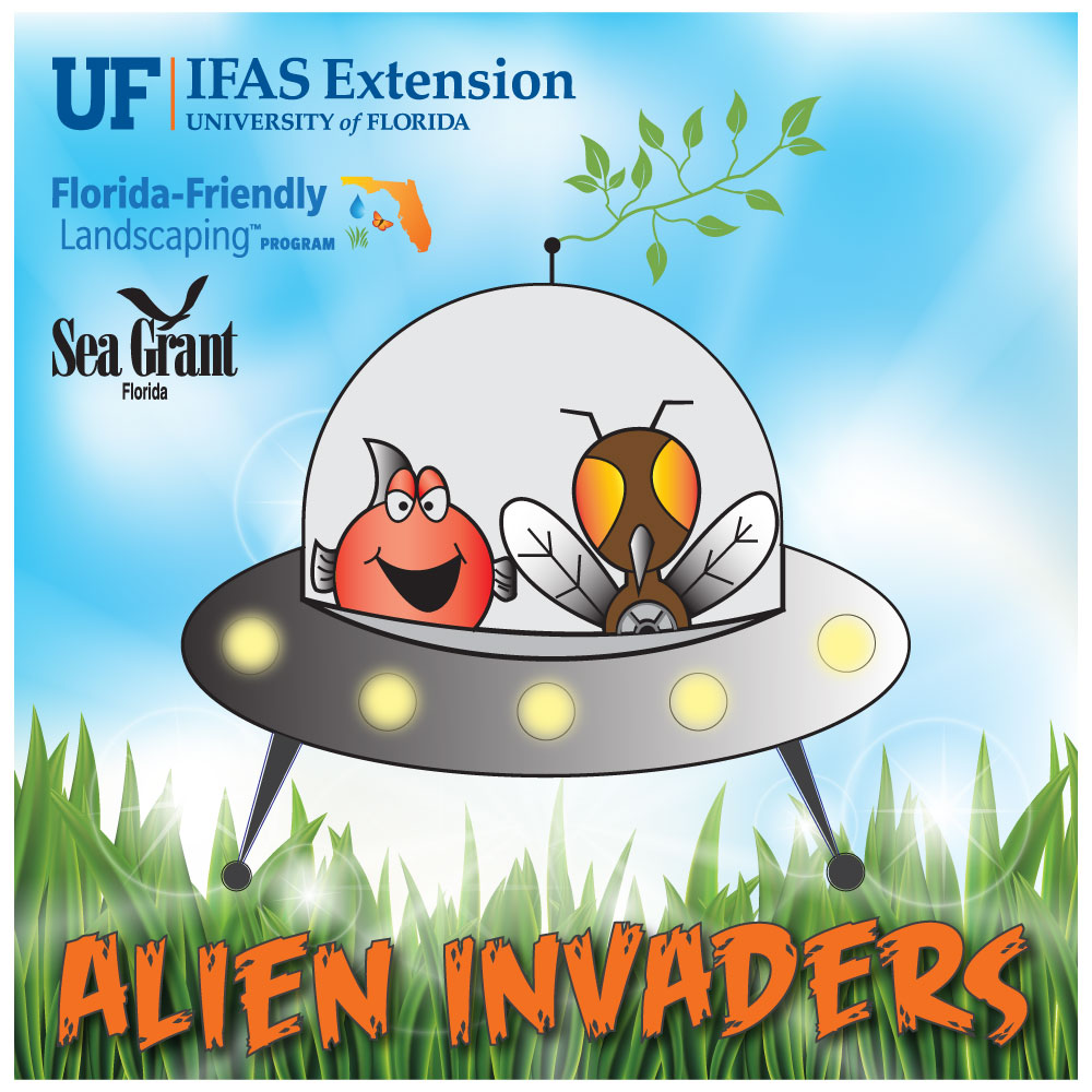 Hernando County Alien Invaders Logo Gainesville, FL