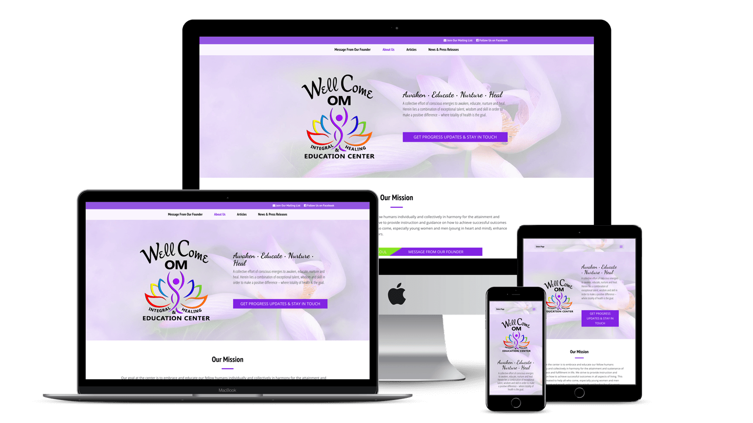 Wellcome Om Center Website Design Development Hernando County