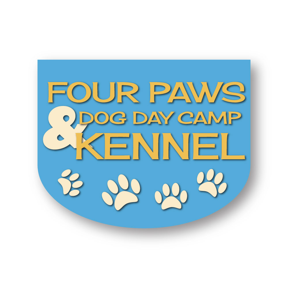 Four Paws Dog Day Camp & Kennel Logo Design Hernando County, FL