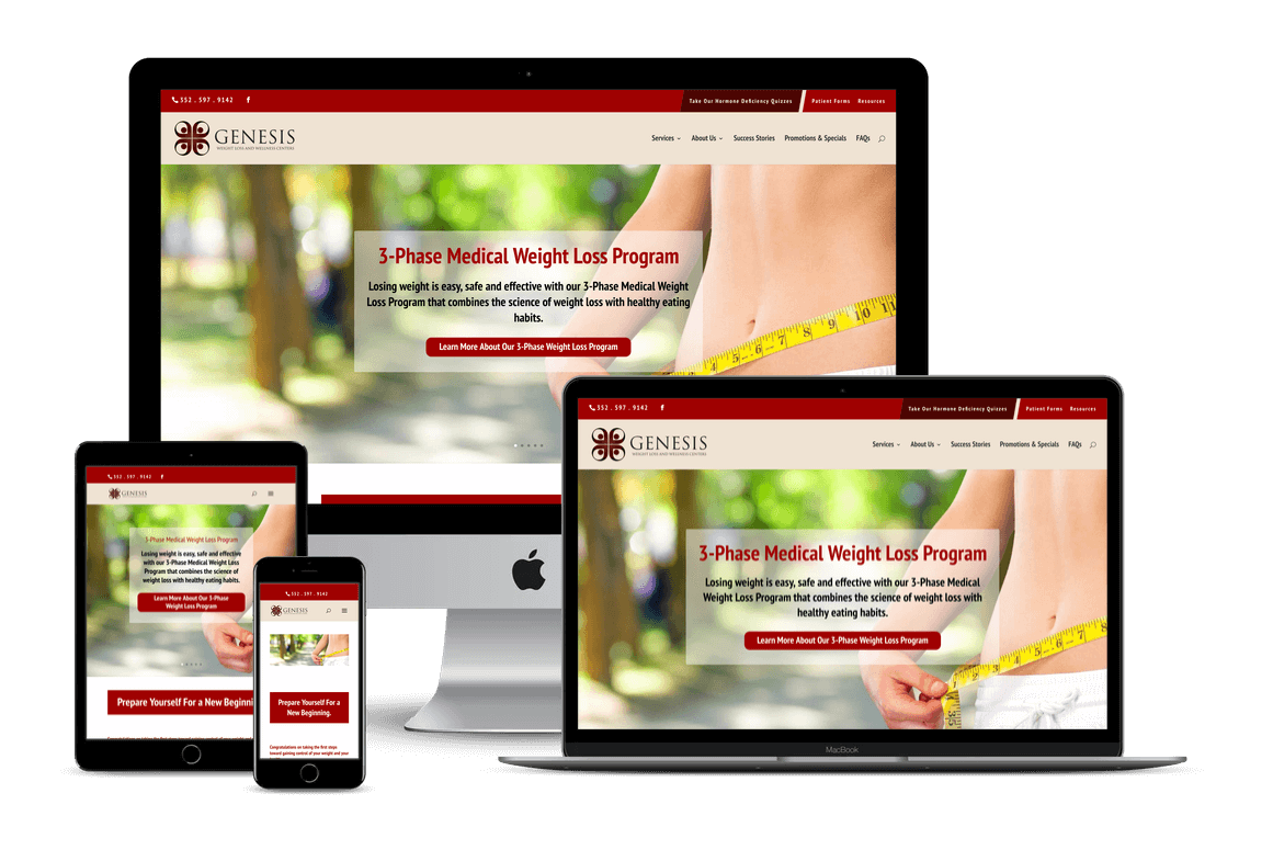 Genesis Medical Weight Loss — Brooksville, FL Website Design