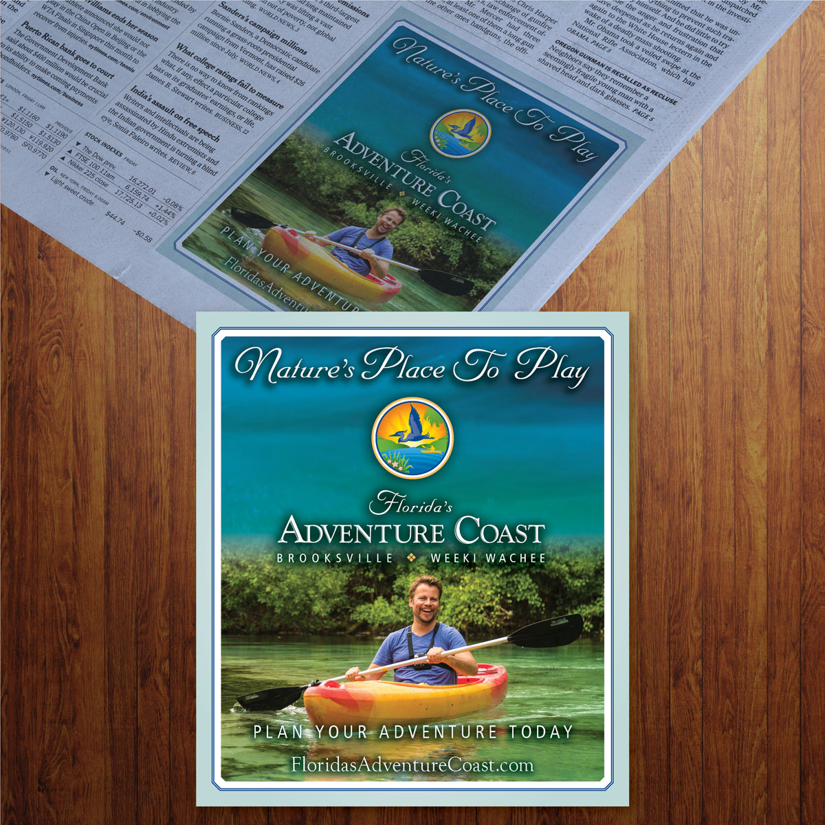 Hernando County Tourism Newspaper Magazine Ad Designer