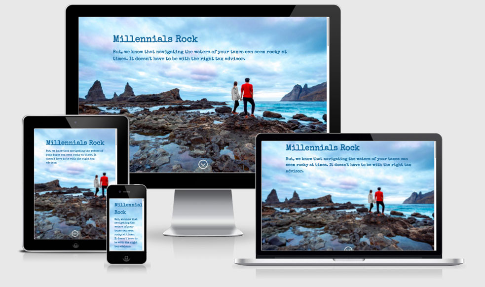 Millennials Rock Lead Page — Atlanta, GA Website Design