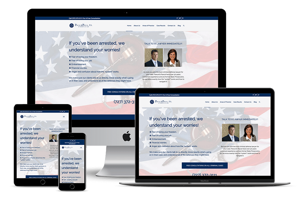 Law Firm Attorney Lawyer — New Port Richey, FL Website Design