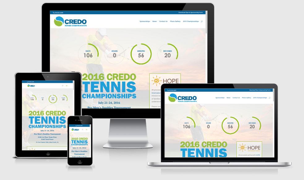 Credo Tennis Tournament — Atlanta, GA Website Design