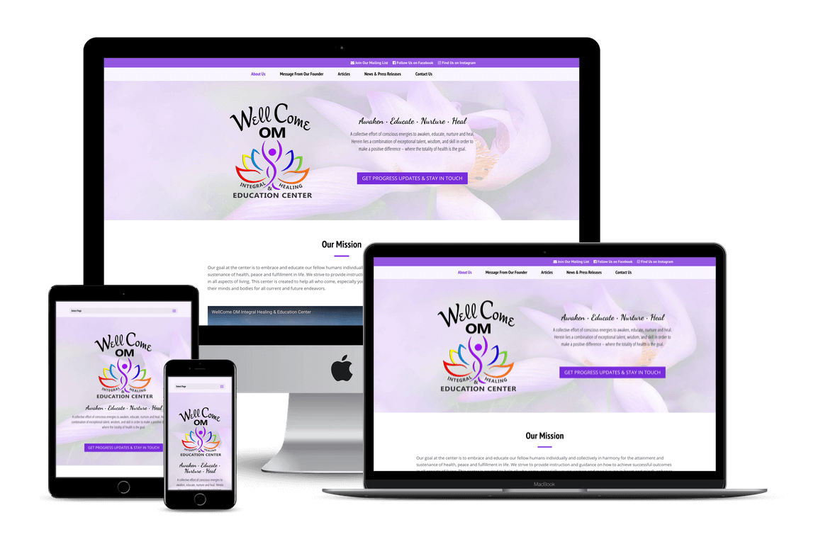 Wellcome OM Center - Website Design for Health Providers and Spas