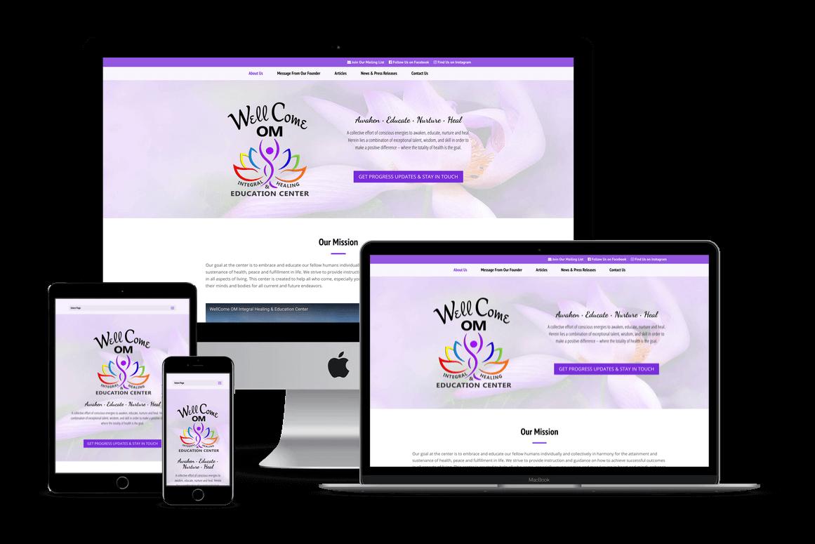 Wellcome OM Center Holistic Healing Website Design — Central Florida
