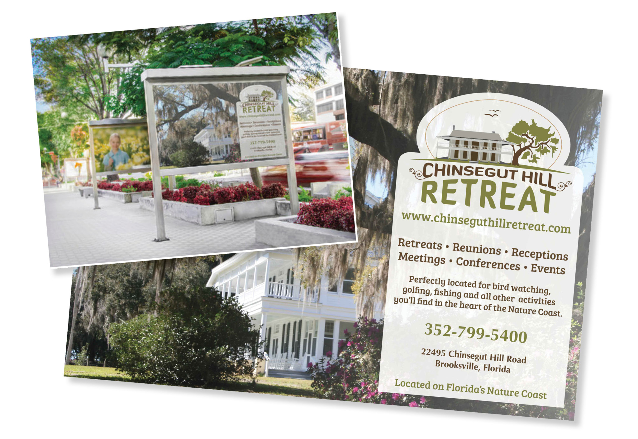 Postcard and Signage Graphic Design Hernando County Florida