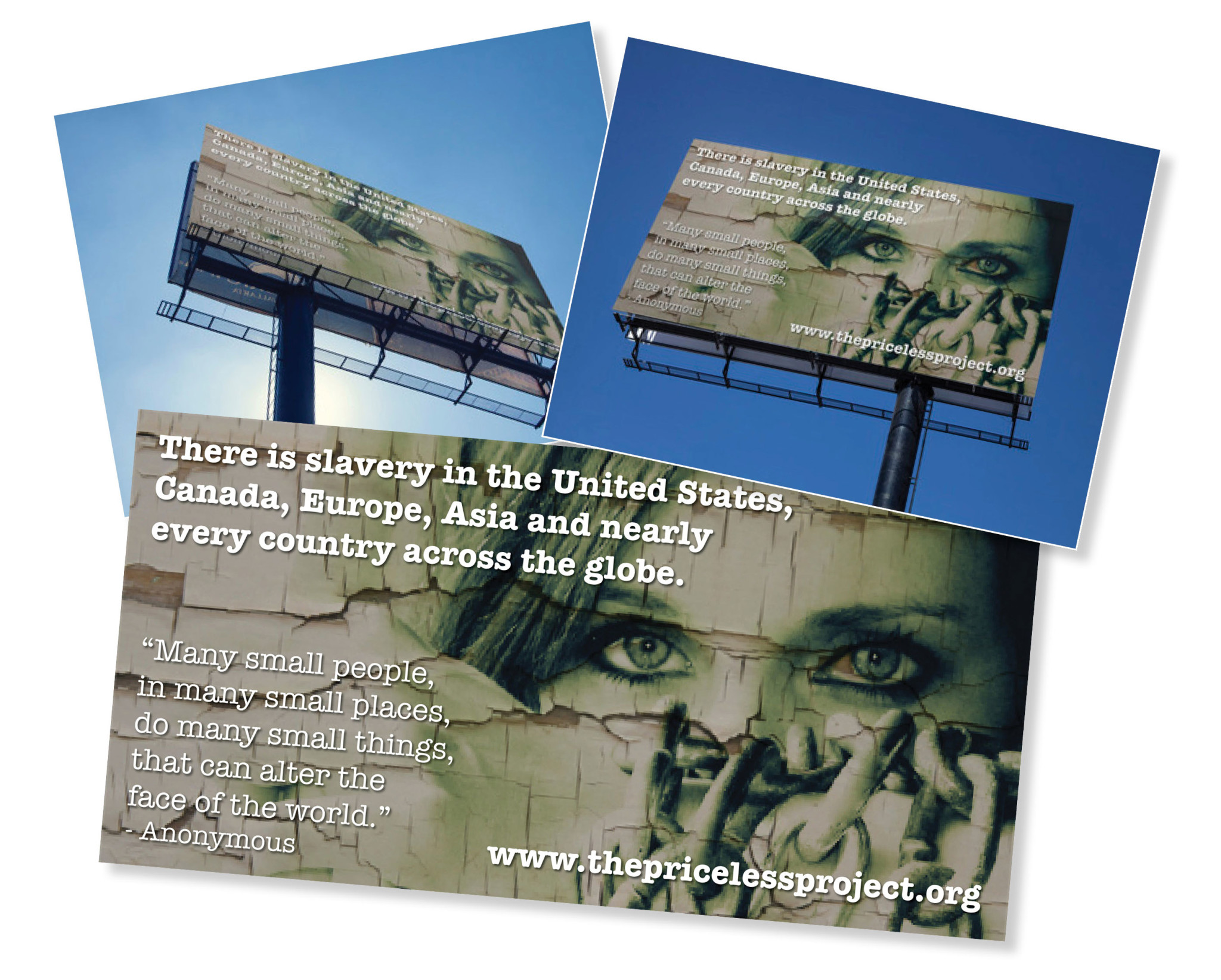 Priceless Project Human Trafficking Billboard