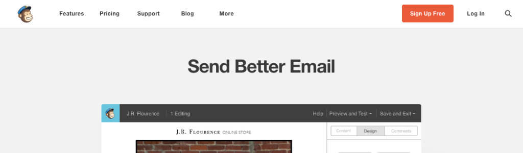 MailChimp Navigation Example