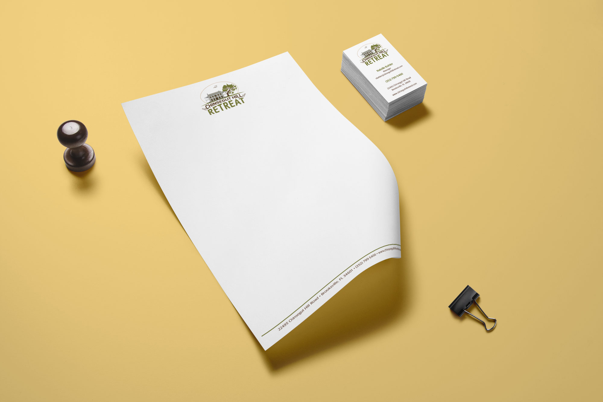 Chinsegut Hill Retreat Letterhead & Business Card Printing