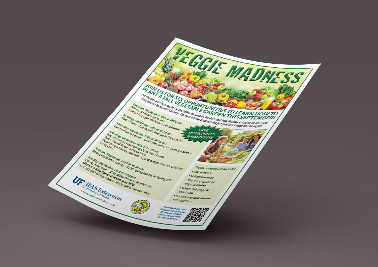 University of Florida Veggie Madness Flyer Printing