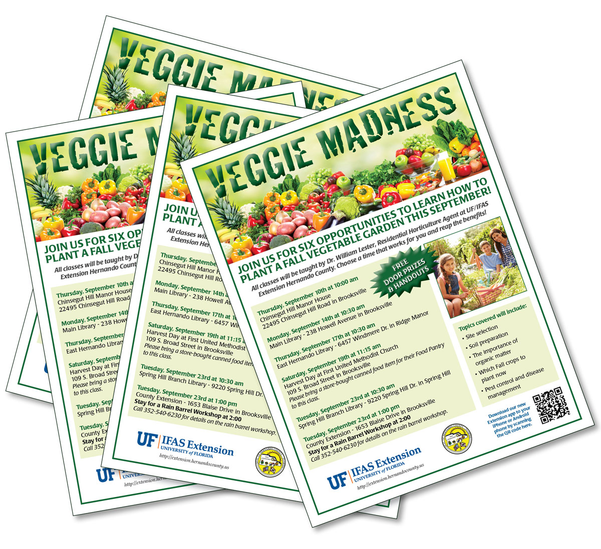 University of Florida Veggie Madness Flyers
