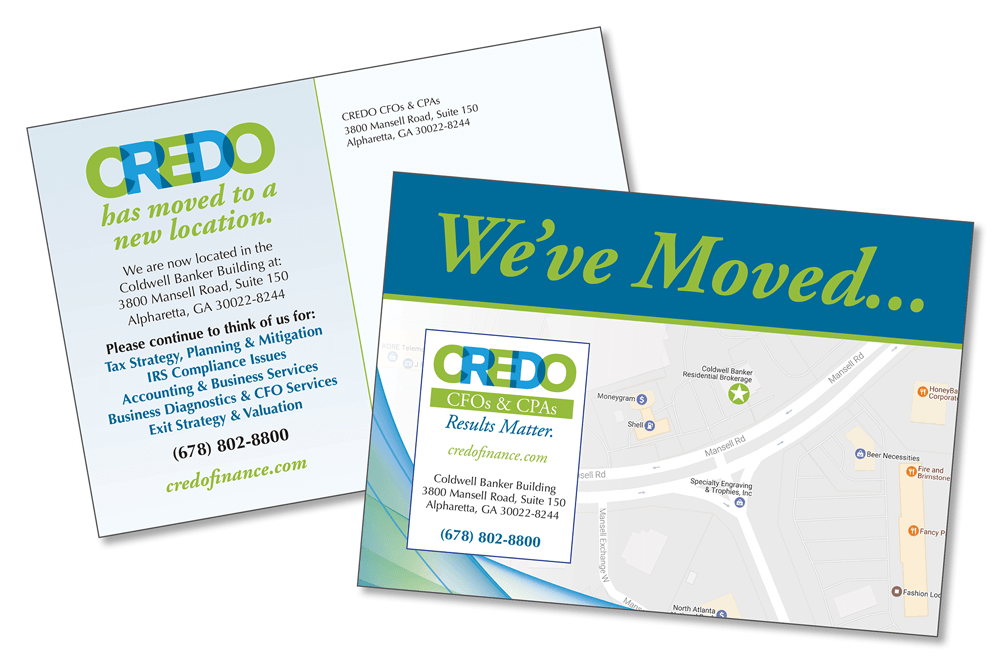 Credo Moving Postcard Graphic Designer