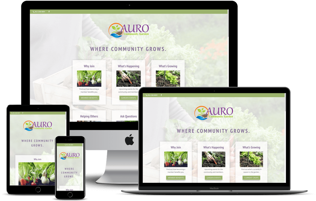 Auro Community Garden Website Design - Tampa, FL