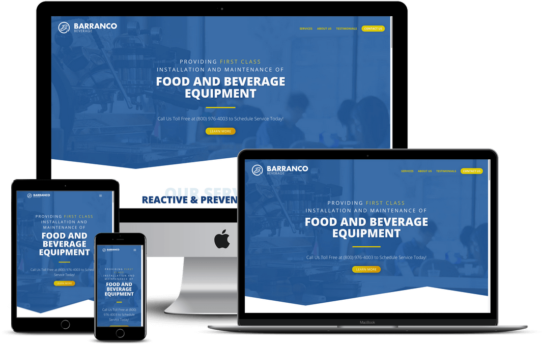 Food Restaurant Vendor Website Design — Tampa, FL