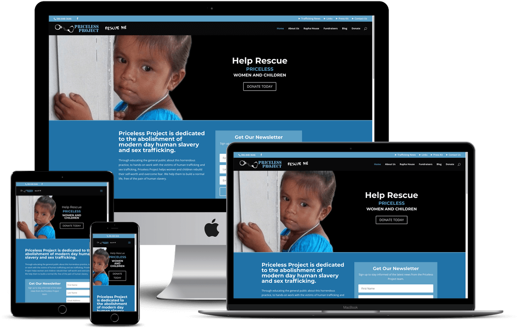 Human Trafficking Non-Profit Website Design — Orlando, FL