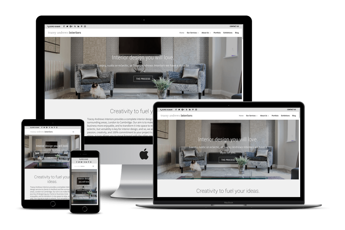 Tracey Andrews Interior Designer Website Development