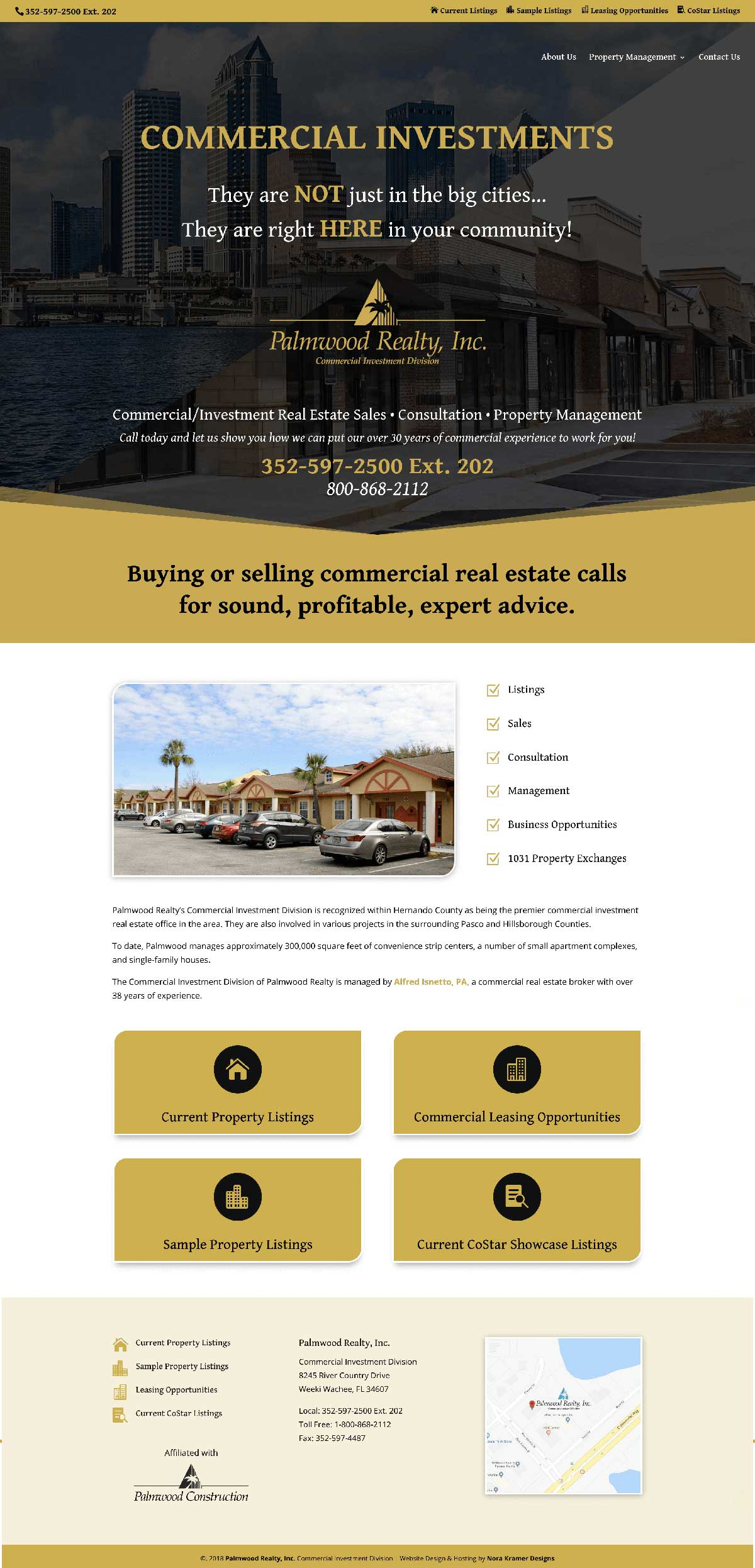 Palmwood Commercial Realty Full Homepage