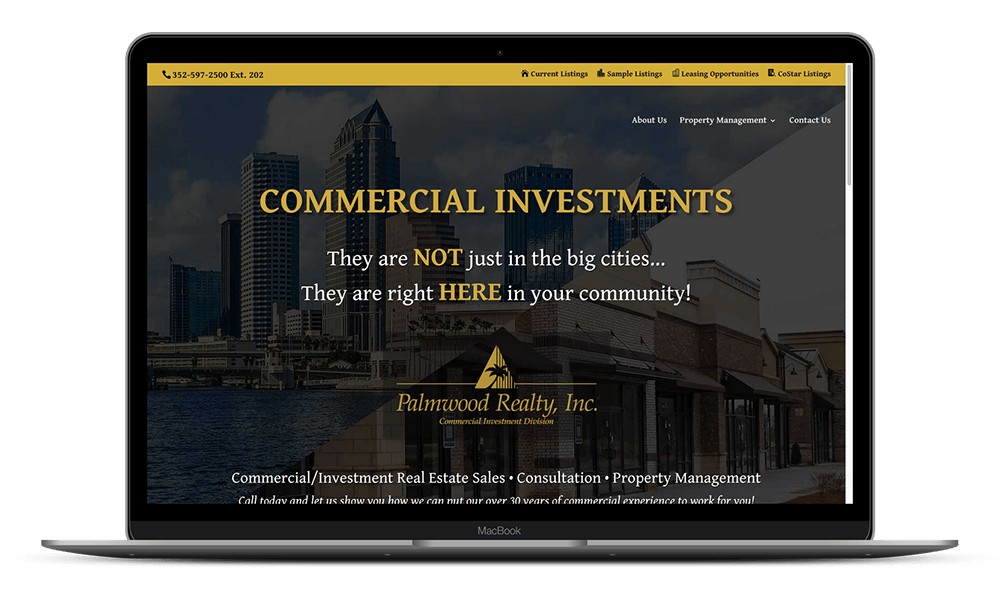 Website Design for Commercial Real Estate Agency