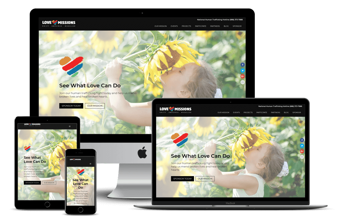 Love Missions Ministry Church Non-Profit — Orlando, FL Website Design