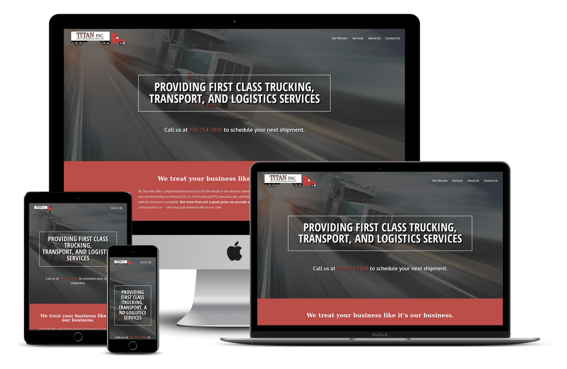 Tampa Trucking Company Website Design