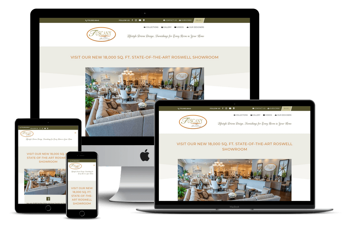 Furniture Store Website Design & Development - Tampa, FL
