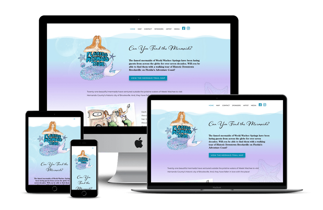 Florida Mermaid Trail Attraction Website Design — Brooksville, FL